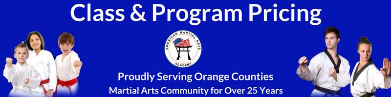 martial arts program pricing
